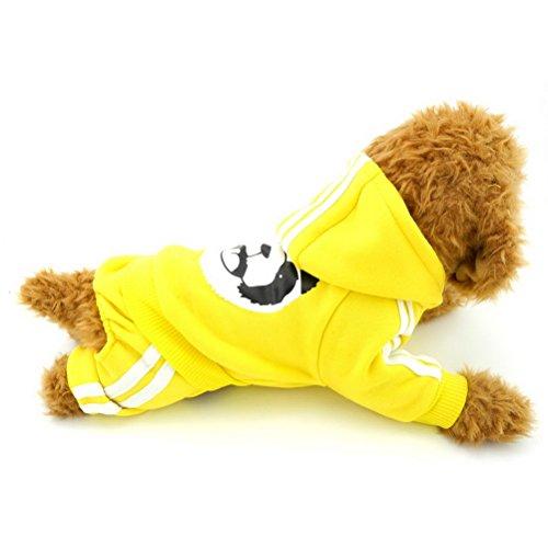 zunea Panda Dick mit Kapuze kleine Hunde Katze Jumpsuit Hoodies Fleece Winter Warm Pet Puppy Pullover Coat Jersey Kleidung (dieser Style Run klein, wählen Bitte eine Größe größer) (Sweatshirt Xl Jersey Kapuzen)