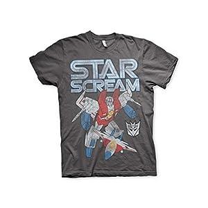Transformers - T-Shirt - Manches Courtes - Homme -  gris - Medium