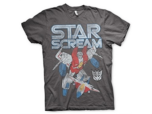 Transformers - T-Shirt - Manches Courtes - Homme -  gris - Medium