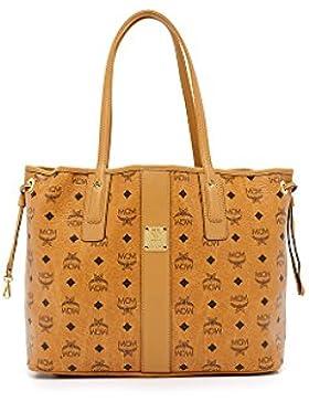 MCM Damen Reversible Shopper Project Medium Cognac