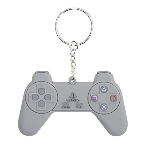 sony-playstation-controller-shaped-rubber-keychain-electronic-games-importacion-inglesa