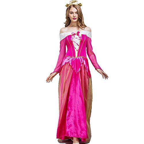 HYMZP Kostüm Damen, Halloween Adult Dance Party Ai Luo Prinzessin Cosplay Kleid, Karneval Dornröschen Kostüm,B