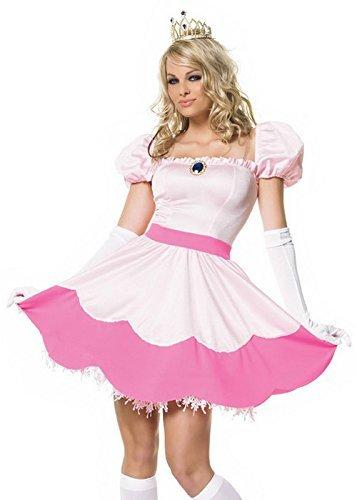 Sexy Prinzessin Kostüm - Kleid, Krone, Handschuhe - Größe S