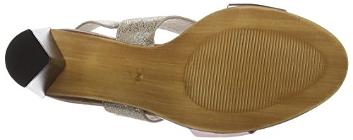 Giudecca S15-7, Sandales  Bout ouvert femme Mehrfarbig (AJ3/AG1 Pink red)