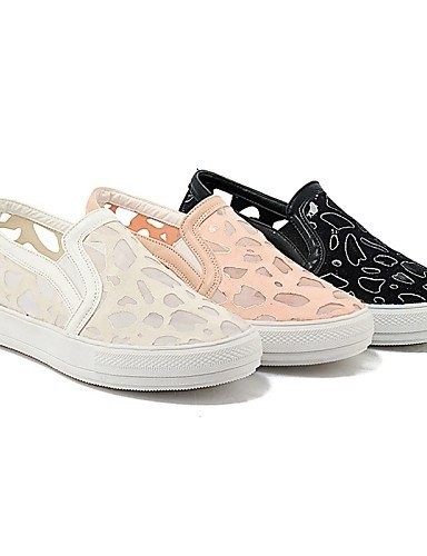 ZQ gyht Scarpe Donna-Mocassini-Casual-Punta arrotondata-Piatto-Pizzo-Nero / Rosa / Bianco , pink-us11 / eu43 / uk9 / cn44 , pink-us11 / eu43 / uk9 / cn44 black-us1.5 / eu31 / uk0.5 / cn30