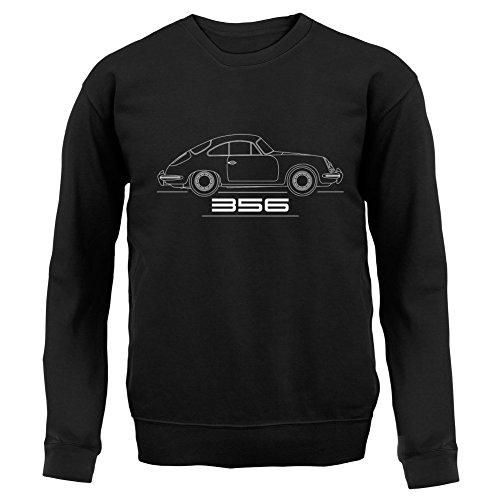 Seitenansicht Porsche 356 (1963 - 1966) - Unisex Pullover/Sweatshirt - 8 Farben Schwarz