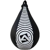 AQF–pera de Velocidad de Cuero Saco de Boxeo de Entrenamiento de Boxeo Artes Marciales Mixtas pera, Black & White Target