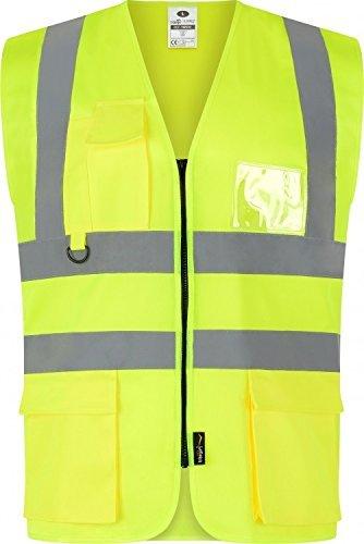 traega twc04 Hi Vis Sichtbarkeit Sicherheits Ausrüstung Executive Weste Jacke - Signalfarbe Gelb, Large