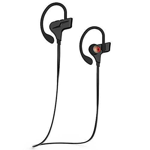 WeCool S30 Wireless Bluetooth 4.1 Earphone with MIC for Hi-Fi Music and Calls , In-Ear Headset designed for Sports , Gym , Travel and Driving , For iPhone , android smartphones, iPod ,iPad and laptops. Black.