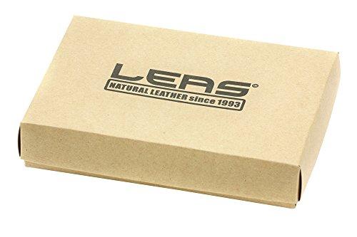 Bikerkombibörse im Hochformat mit Chrom-Kette LEAS MCL im Vintage-Stil in Echt-Leder, schwarz - ''LEAS Chain-Series'' - 6