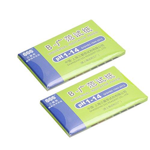 2 Boîte Test de PH Papier Indicateur Universel 1-14 pour Eau Urine Soap
