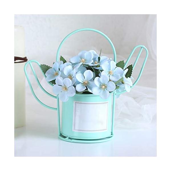 XdiseD9Xsmao Color Vivo Begonia Artificial Flor Planta Bonsai Maceta Jardín Boda Fiesta Decoración De La Mesa Agregue…