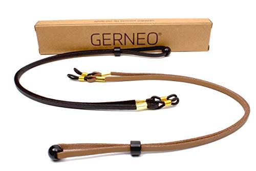 GERNEO - DAS ORIGINAL - Premium Brillenband PU Leder Glatt- und Wildlederoptik & Brillenkordel für...