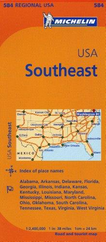 Michelin Usa: Southeast Map 584 (Michelin Maps) por Michelin