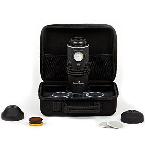 Handpresso 48266 Coffret Machine à Expresso Portable pour la voiture dosettes ESE ou café moulu Noir 26 x 21 x 9,5 cm