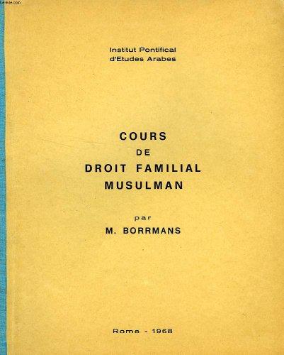 COURS DE DROIT FAMILIAL MUSULMAN
