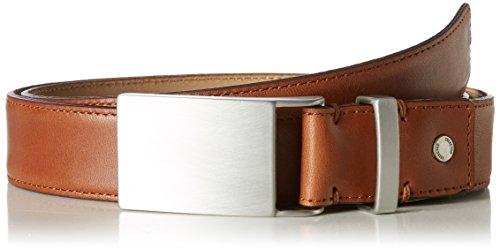 SELECTED HOMME Herren Gürtel Shdformal Plate Belt Noos, Braun (Cognac), 85 (Homme Leder)