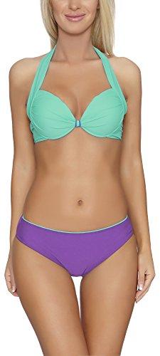 Verano Bikini Coordinati per Donna Alessia Menta Chiaro/Viola