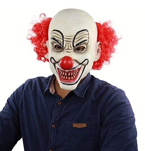 zqfsbd Halloween Dekoration Halloween Horror Maske Party Haunted ToolBeängstigend Kopf Abdeckung Make-Up Event Zubehör Dekor C