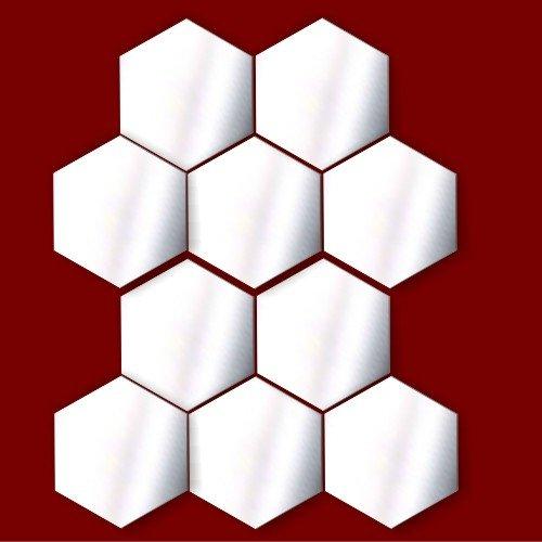 Hexgono-espejo-acrlico-decoration-adornos-para-tarjetas-decoration-unidades