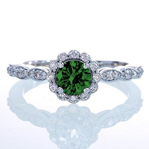 limited-time-sale-125-carat-round-cut-emerald-and-diamond-flower-vintage-designer-engagement-ring-in