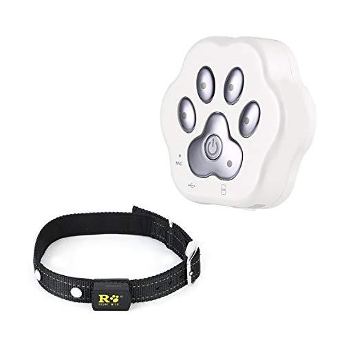JohnJohnsen Wasserdichte GPS Tracker Smart-Locator Haustier Hund Katze Echtzeit Live-Position Tracking-Anti-verloren The Best Pet Care Equipment (weiß)