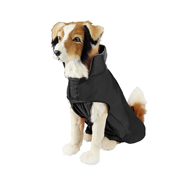SymbolLife Dog Coat 100% Waterproof Nylon- Fleece Lined Jacket Reflective Dog Jacket Warm Dog Coat Climate Changer Fleece Jacket Easy On and Off 1