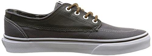 Vans Brigata, Sneakers Basses mixte adulte Gris (Leather/Plaid/Asphalt/Beluga)
