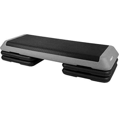 MiraFit Pedana da step deluxe regolabile 108 cm - Grigio/nero