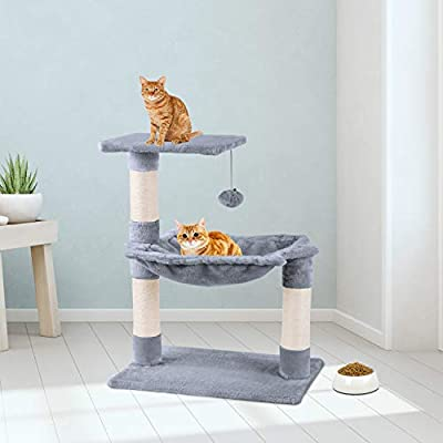 Wellhome Cat Tree Cat Post with Play Ball and Hammock 70cm by Wellhome