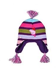 Peppa Pig thermiques en polaire et tricot Pom Pom Bonnet, 4-8 ans