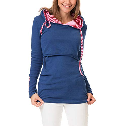 Women Autumn Warm New Casual Daily Tops Women s Nursing Long Sleeves Warm  Solid Tops Breastfeeding Hoodie b645d0366d4b