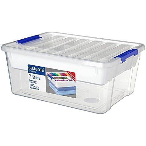 Sistema Storage Contenedor Polipropileno, con Bandeja, Plástico, Transparente, 24 cm