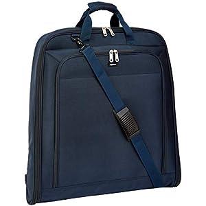 AmazonBasics Housse de transport XL pour vêtements de qualité supérieure, Bleu Marine - 1,14 m