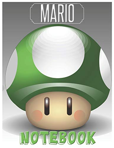 Mario Notebook: Cute Mario Notebook/Journal for Video Games Lovers/Kids to Writing Notes 150 Pages 8.5x11 Inch. (White&Green Pattern) (Nintendo De Juegos Ds)