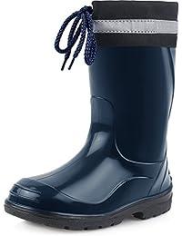 Ladeheid Botas Antideslizantes Zapatos de Seguridad Unisex Niños LA-972