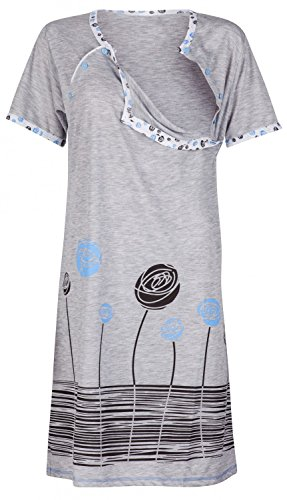 Happy Mama. Women's Maternity Nursing Breastfeeding Nightdress Shirt Gown. 135p Test