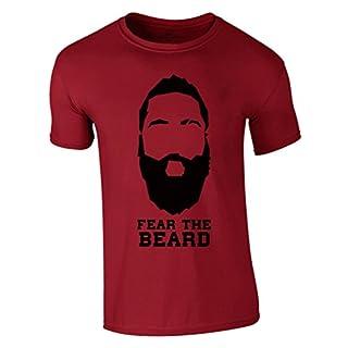 Fear The Beard T-Shirt 2017 New James Harden Houston Rockets NBA (L, Rot)