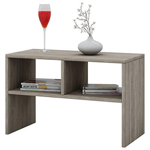 """VCM Tisch Sofatisch Beistelltisch Couchtisch Wohnzimmertisch Kaffeetisch Nachttisch Sonoma-Eiche 45x60x40 cm """"Nachto"""""""