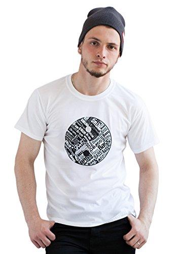 Strand Clothing Herren T-Shirt Weiß Weiß Gr. XL, Weiß - Weiß - Hospital Records-t-shirt