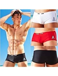 Designer swimming trunks mens black