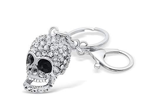 Cráneo con diamantes de imitación (de circonio)