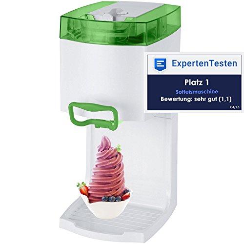4in1 Gino Gelati GG-50W-A Green Softeismaschine Eismaschine Frozen Yogurt-Milchshake Maschine Flaschenkühler