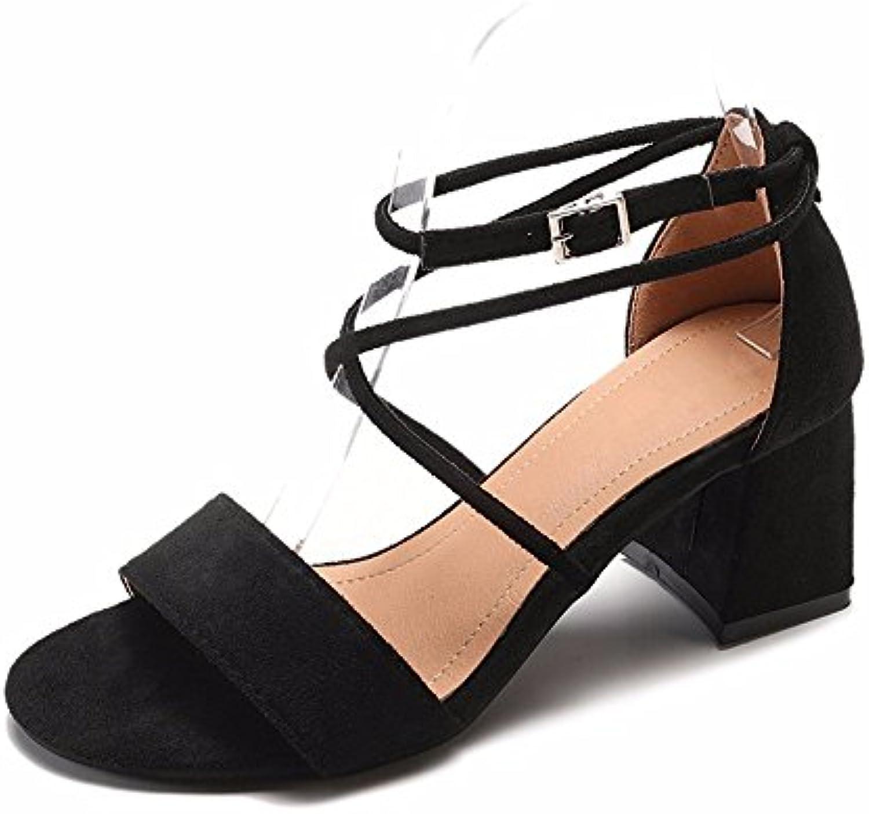 YMFIE In stile europeo semplice legame trasversale lady toe toe sandali Party ballo di nozze sandali,39 UE,nero | Reputazione a lungo termine  | Uomo/Donne Scarpa