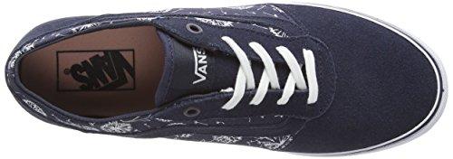 Vans W Milton Suede, Baskets Basses Femme Multicolore ((suede) Ombre Blue