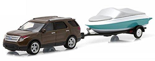 2013-ford-explorer-greenlight-32040c-avec-remorque-a-bateau-164-die-cast