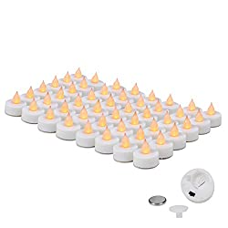 Everbrite 48-pack Battery Operated Flickering Flameless Led Tea Light Candles
