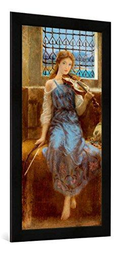 Gerahmtes Bild von Arthur Hughes You Cannot Barre Love Oute, Kunstdruck im hochwertigen handgefertigten Bilder-Rahmen, 50x100 cm, Schwarz matt -