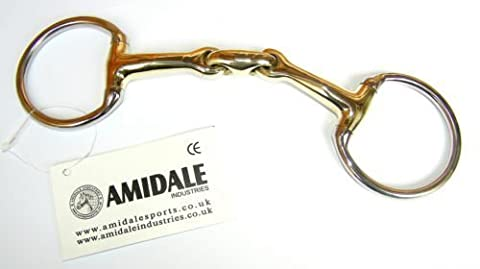 Amidale Eggbut Snaffle Horse Bit,Copper Mix,Stainless Steel German Steel Bit 5.00 Inches