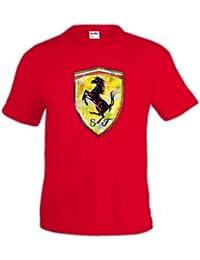 Mx Games Camiseta Formula 1 escudo -Ferrari Fanart- (Talla  7-8 8af0d9137e1